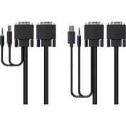 Dual Dvi/usb/aud KVM Cable, 1.8m