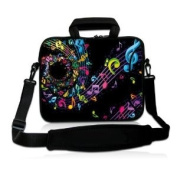 Music Note 38cm 39cm 40cm inch Notebook Laptop Shoulder Case Sleeve Carrying bag for Apple MacBook Pro 15 15.4 /Dell Inspiron 15R Vostro XPS Alienware M15X /ASUS A55 K55 N56 X54 /Sony E15 S15 EL2/Lenovo ThinkPad E530 /HP Acer