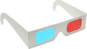 3D Glasses - Red and Cyan cardboard (50 pairs) Unfolded - Buy 3D Glasses in Bulk and save