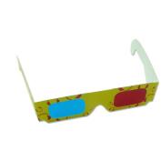 3D Red adn Blue Anaglyph White Cardboard Frame Glasses
