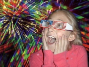 3D Fireworks Glasses - For Viewing Fireworks Displays and Laser Shows, Raves, Christmas Lights -
