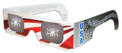 3D Holographic Glasses w Patriotic Frame-See USA at Any Bright Point of Light-Pack 5