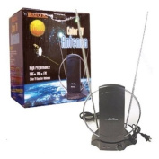 Luxtronic 25dB Amplified top-of-set UHF/VHF Antenna with Coaxial Connector