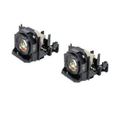 Electrified ET-LAD60W Replacement Lamps (2 Lamps) with Housing for Panasonic Projectors