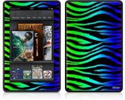 Amazon Kindle Fire (Original) Decal Style Skin - Rainbow Zebra