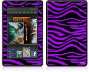 Amazon Kindle Fire (Original) Decal Style Skin - Purple Zebra