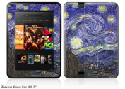 Vincent Van Gogh Starry Night Decal Style Skin fits Amazon Kindle Fire HD 18cm