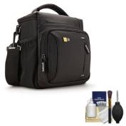 Case Logic TBC-409 Digital SLR Camera Shoulder Case (Black) with Cleaning Kit for Sony Alpha SLT-A37, A57, A58, A65, A77, A99