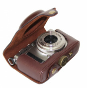 """MegaGear """"Ever Ready"""" Protective Dark Brown Leather Camera Case, Bag for Nikon COOLPIX A with 28mm lens"""