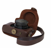 """MegaGear """"Ever Ready"""" Protective Dark Brown Leather Camera Case, Bag for Olympus XZ-2"""