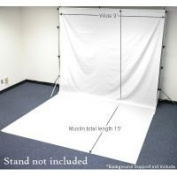 Chromakey White Muslin Screen 9x15