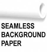 Seamless Background Paper - Photo Background Roll Snow White - 130cm x 90cm *NOT RETURNABLE