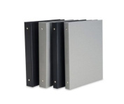 Pina Bex Black 3-Ring Binder 11X8.5X1-No Cardholder