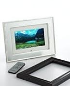 18cm Brushed Nickel LCD Frame