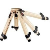 Berlebach 50031 Two-section Wood Table Top Tripod Legs with Levelling Ball & Centre Column, Height up to 32cm , Supports 8kg