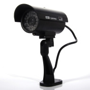 Masione Simulated Surveillance Cameras - New Security Surveillance fake Dummy IR LED cameras - Night/Day Vision Look Bullet CCD CCTV Imitation Dummy Camera - Weatherproof bullet housing, multiple Flashing Blinking Red infrared LEDs, Indoors or Outdoors ..