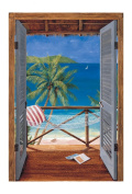 Mural Portfolio II Trompe L'Oiel Tropical Doors Accent Wall Sticker