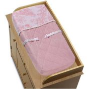 Pink Toile Collection Changing Pad Cover