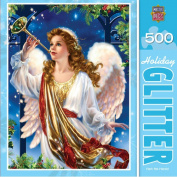 MasterPieces Holiday Glitter Hark The Herald Jigsaw Puzzle, 500-Piece