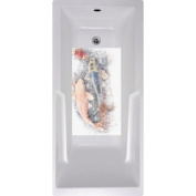 No Slip Mat by Versatraction Koi Fish Bath Tub and Shower Mat