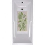 No Slip Mat by Versatraction Fern Floral Bath Tub and Shower Mat