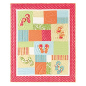 Flip Flops on The Beach Quilted Throw