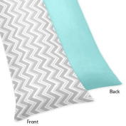 Zig Zag Turquoise and Grey Collection Body Pillow Case