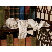 Sleepy Time Baby Angel Statue in Stone