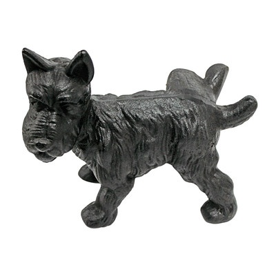Naughty Peeing Scotty Dog Die-Cast Iron Bookend and Doorstop