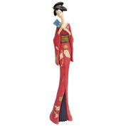 Japanese Maiko Geisha Teruha Fan Dancer Statue