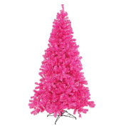 2.1m Artificial Christmas Tree in Hot Pink