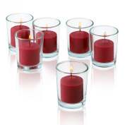 10 Hour Red Apple Cinnamon Scented Votive Candles Set of 36 Made in USA