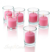 10 Hour Pink Rose Garden Scented Votive Candles Set of 36 Made In USA