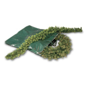National Tree Company Heavy Duty Wreath and Garland Storage Bag with Handles & Zipper-Fits up to 1.2m Decorated Wreath