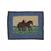Horse Friends Cotton Crib Toss Pillow