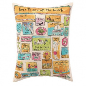 How To Live At The Beach Feather Down Pillow