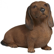 Life Size Laying Dachshund Sculpture