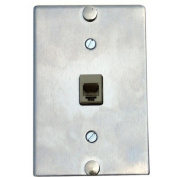 Stainless Wall Phone Jack