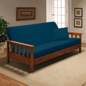 Stretch Jersey Full Futon Cover in Cobalt Blue