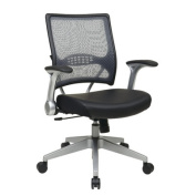 Air Grid Back Eco Leather Managers Chair with Flip Arms