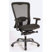 ProGrid Seat and Back Office Chair in Black