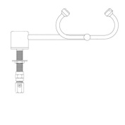 Eyesaver Deck Mounted Eyewash Faucet with Left Hand Swing Activation
