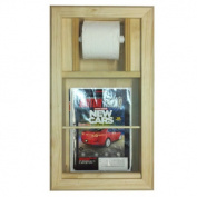 Bevel Frame Recessed Magazine Rack and Toilet Paper Holder Combo