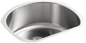Undertone Medium D-Bowl Stainless Steel Kitchen Sink