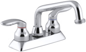 Coralais Deck Mounted Laundry Faucet with Threaded Spout