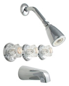 Thermostatic Three Handle Tub and Shower Faucet