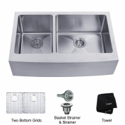 Farmhouse 80cm 60/40 Double Bowl Kitchen Sink