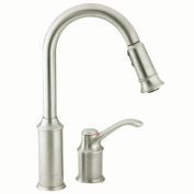 Aberdeen Single Handle Conventional Deck High Arc Pulldown Kitchen Faucet