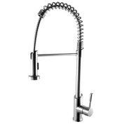 LEON Single Handle Single Hole Kitchen Faucet with Pull Down Shower Spray