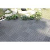 30cm x 30cm Bamboo Composite Deck Tiles in Grey